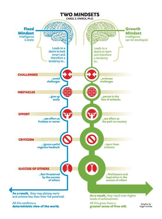 """After reading Dweck (2012) for PLT group readings/discussions I've found to certainly finding myself following the belief of the """"Growth mindset"""" where everyone has the ability to grow and should be encouraged to."""