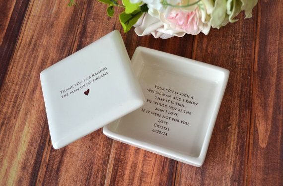 Unique Mother of the Groom Gift - Square Keepsake Box - Gift Boxed and Ready to GIve