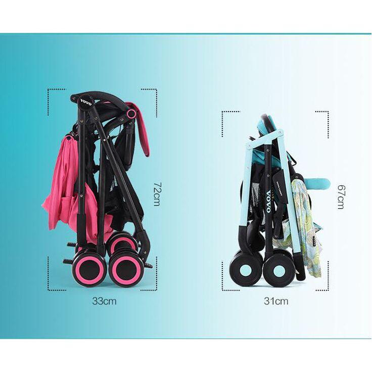 Детские тележки высокая лежащих пейзаж Легкий зонт складной детские Коляски детские укладки и сидеть на открытом воздухе путешествия Коляска VOTC-3