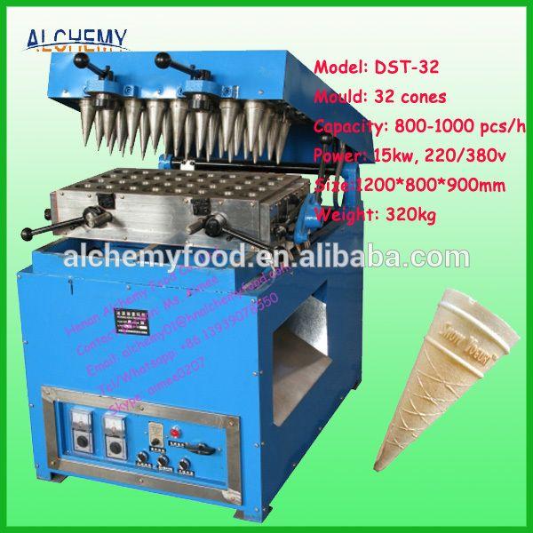 DST-32 industrial ice cream cone making machine factory price/rolled sugar cone machine