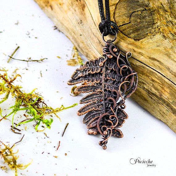 Fern Pendant Necklace Botanical Jewelry Copper Jewelry