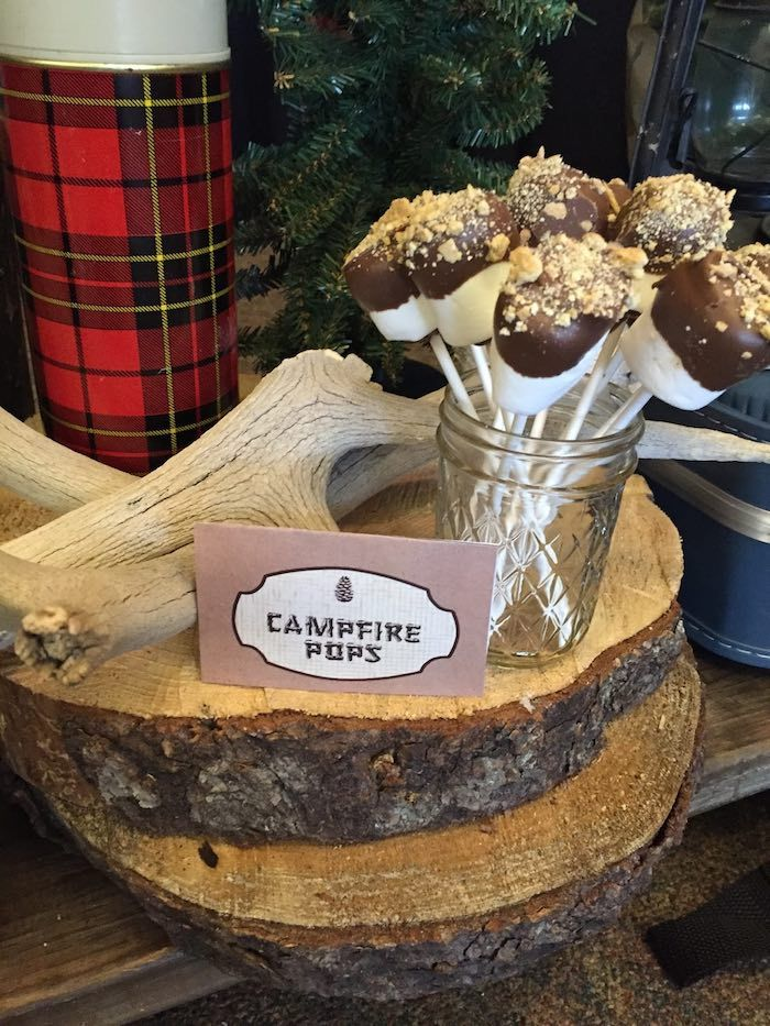 Campfire Pops from a Rustic Camping Birthday via Kara's Party Ideas | KarasPartyIdeas.com (26)