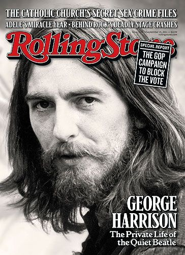 George Harrison on the September 15, 2011 cover.