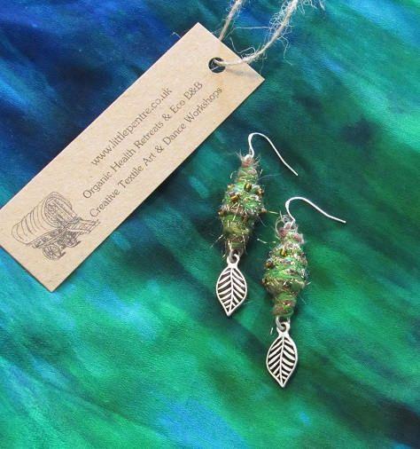 Leaf Dangle Earrings Gypsy Copper Tribal Indian Jewellery