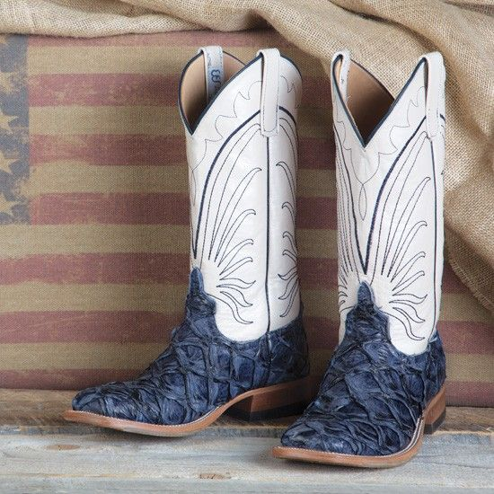 Anderson Bean Ladies' Navy Big Bass Boots