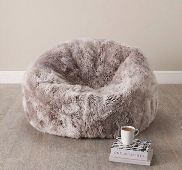 Home Accessory Cozy Bean Bag Fluffy Cozy Dorm Room Bean