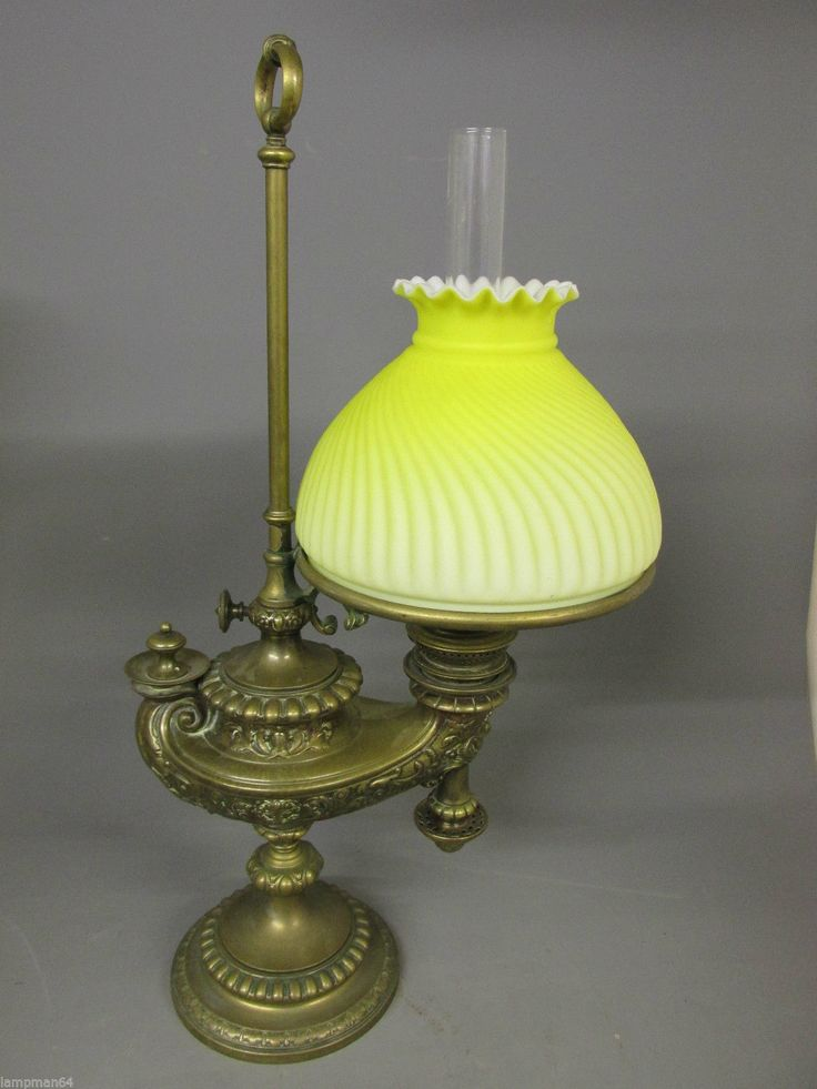 Wild Wessel Harvard Student Oil Lamp Complete with Satin Glass Shade | eBay