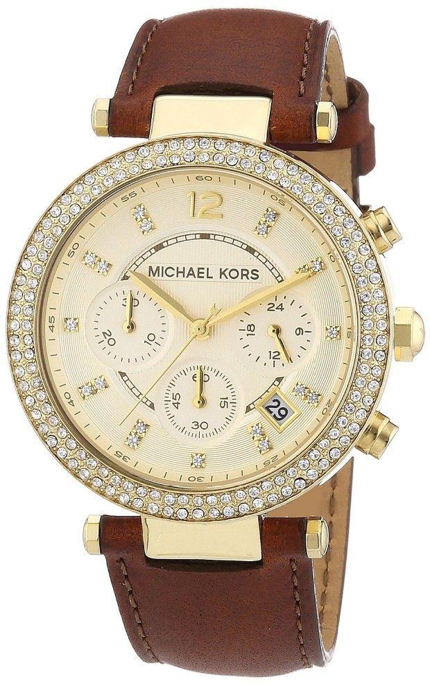 Michael Kors Ladies Gold Tone Chronograph Watch