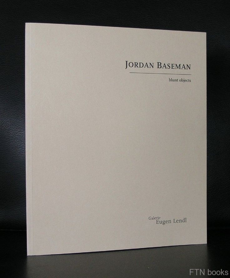 galerie Eugen Lendl # JORDAN BASEMAN , blunt objects # 1997, nm+