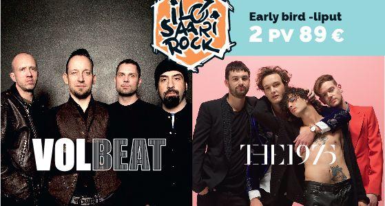 Ilosaarirock Festival 2016 ensimmäiset julkistukset: Volbeat ja The 1975 heinäkuussa Laulurinteellä!  Ilosaarirock on julkaissut ensimmäiset tiedot heinäkuun 2016 artistikattauksesta. Kesällä Joensuun Laulurinteelle saapuu tanskalainen heavy metal–rockabilly -yhtye Volbeat sekä brittiläinen indie rock -komeetta The 1975.  Ilosaarirock 2016 lippujen myynti alkaa Lippupisteessä maanantaina 23.11. kello 9.