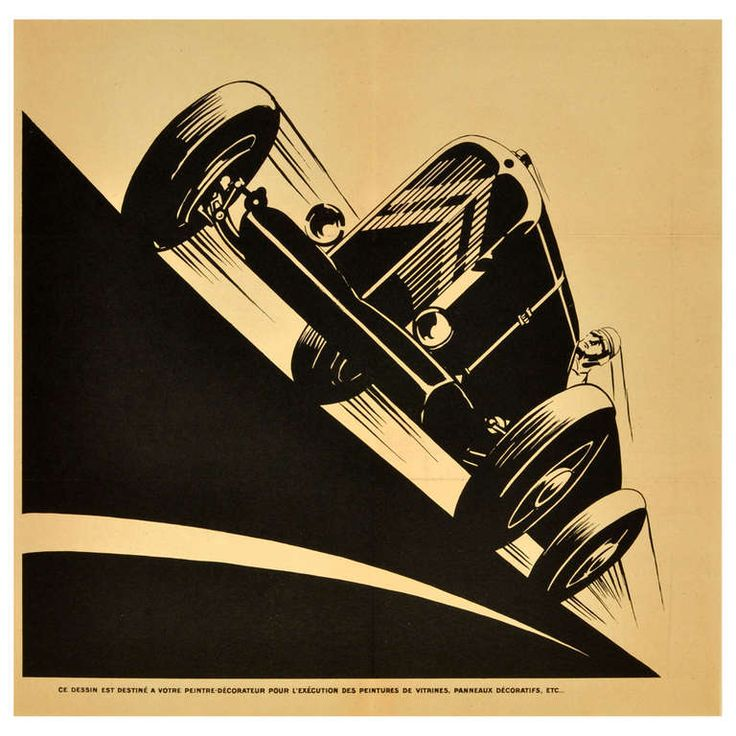 1930s Art Deco Citroen Petite Rosalie Racing Car | From a unique collection of antique and modern posters at http://www.1stdibs.com/furniture/wall-decorations/posters/