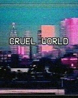 Prédio colorido frase cruel  mundo fundo tela de bloqueio Tumblr