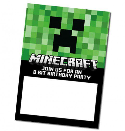 Download this FREE Minecraft Invite courtesy of Digital Mom Blog