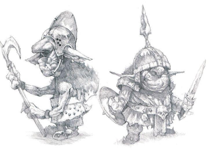 Картинки, рисунки смешных гоблинов