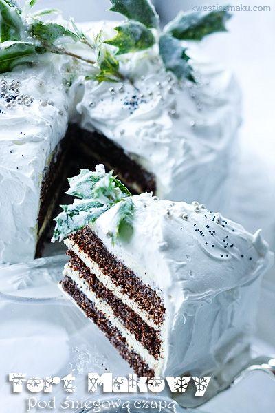 Poppy seed cake ( in polish) - Tort Makowy z masą jogurtową