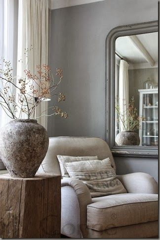 I can't get over how much I love the gray walls! We need gray in our house somewhere ;)