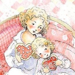 Hearts and Love Tea Party                Mother by Periwinklesky, $28.99