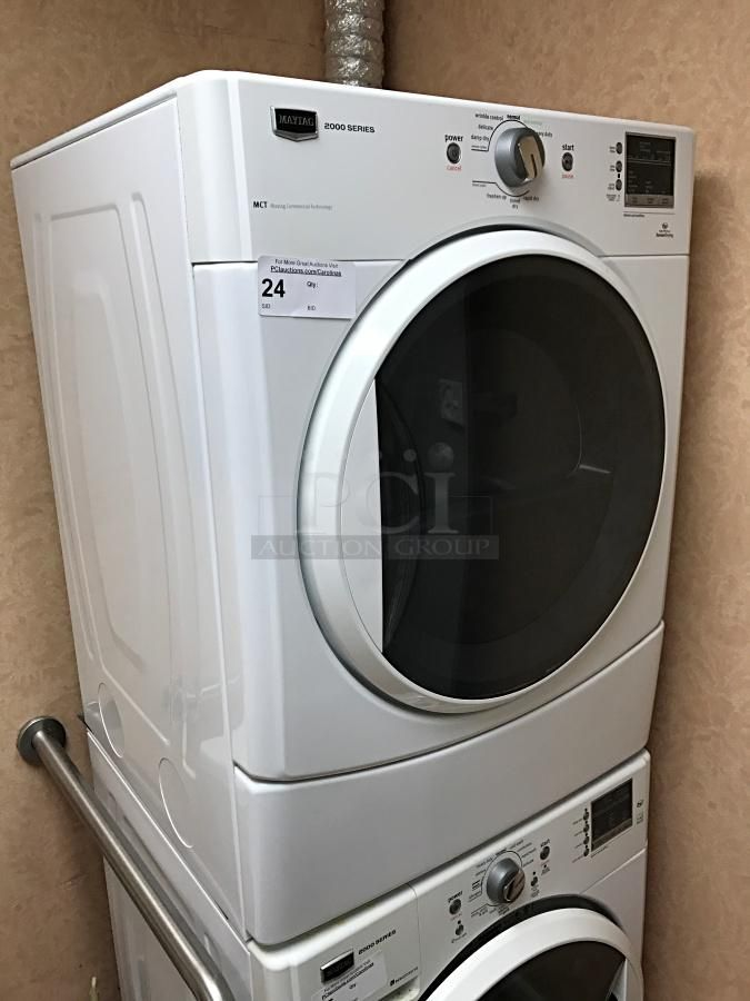 Maytag 2000 High Efficiency Commercial Series Washer Dryer Stackable Details Pics Auction Listings