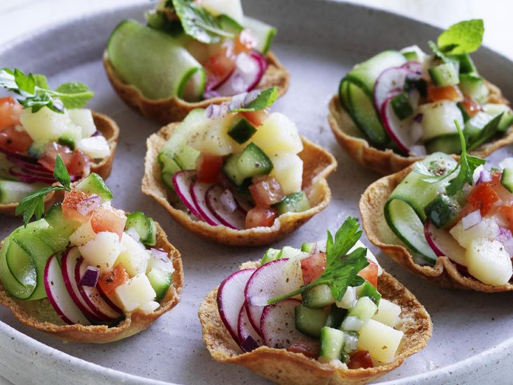 Middle Eastern Salad Cups