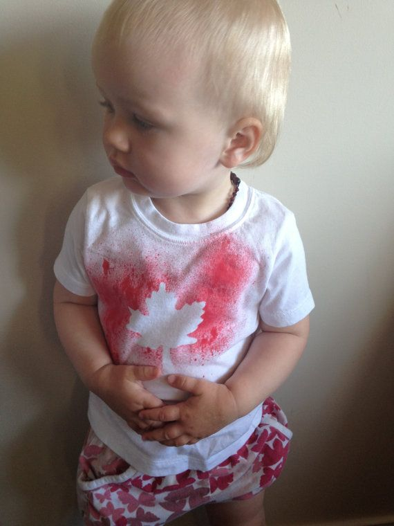 Canada Day Kids TShirt by SplatAndCo on Etsy, $20.00