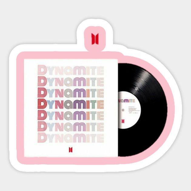 Bts dynamite track - Bts Dynamite - Sticker   TeePublic en 2020   Pegatinas bonitas, Pegatinas ...