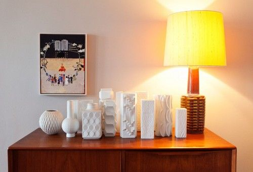 Monochromatic yet multitextured vases.At Home, Decor Ideas, Home Interiors, Group Collection, Nice Collection, Berlin, Interiors Design, Olaf Hajek, White Vases
