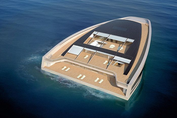 Top view of Super YachtFloating Islands, Wally Hermès, Wally Hermes, Yachts Design, Wally Yachts, Luxury Yachts, Boats, Hermès Yachts, Super Yachts