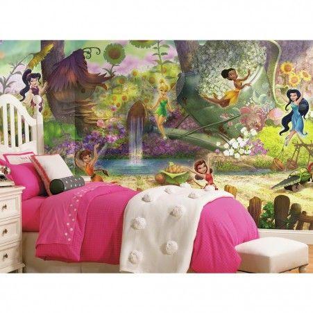 Disney Fairies Pixie Hollow XL Wallpaper Mural 10.5' x 6' - Kids - XL Wallpaper Murals - Wallpaper & Murals | RoomMates Peel and Stick Décor
