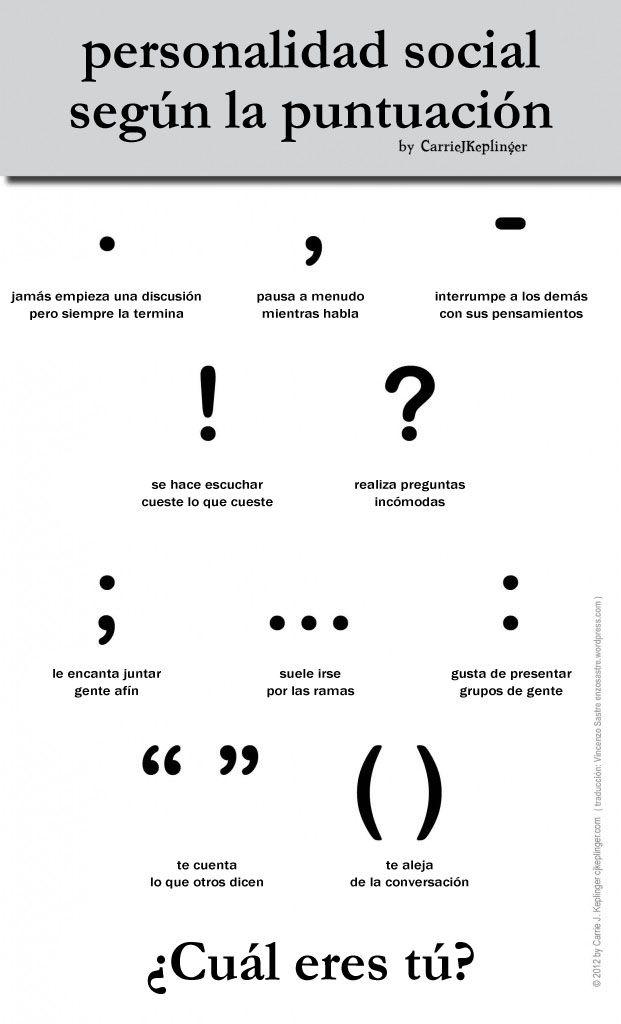 Personalidad social según los signos de puntuación