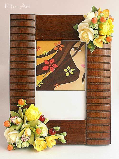 Декор : Фоторамки с цветами из полимерной глины - Fito Art