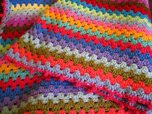 Another fat granny stripe by Apples-and-Pears, via Flickr