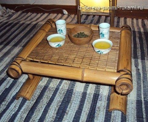 Как сделать чайный столик Чабань из бамбука своими руками - Работа с деревом