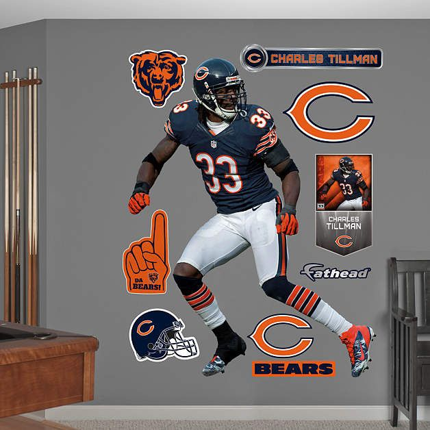 Fathead Chicago Bears Charles Tillman Wall Graphic   Wall Sticker Outlet Part 20