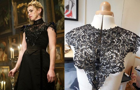 Custom Made robe de soirée dentelle victorienne terrible Penny