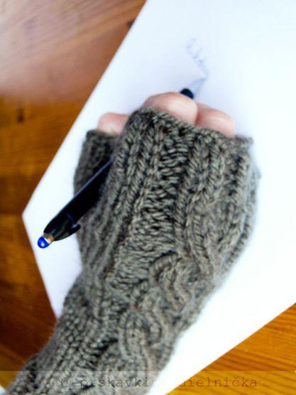 Návod na pletené bezprstové rukavice