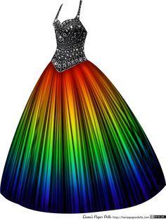 'Rainbow' ball gown