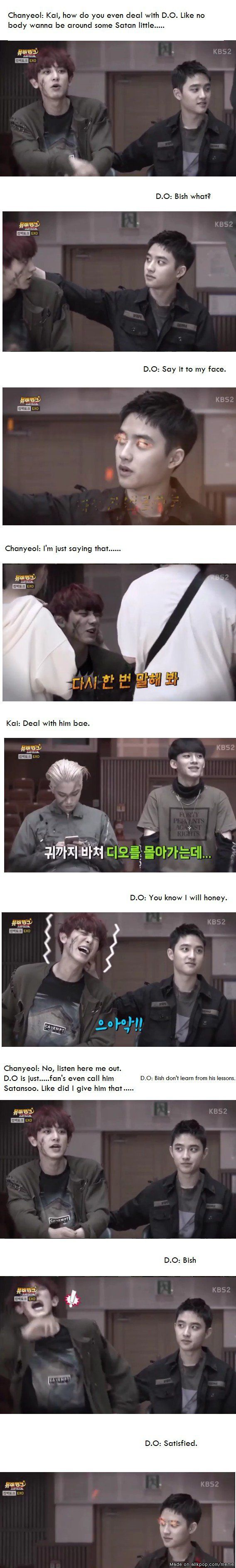 LOL, I saw the video and thought, what if they were saying this. LOL. I love Kaisoo.