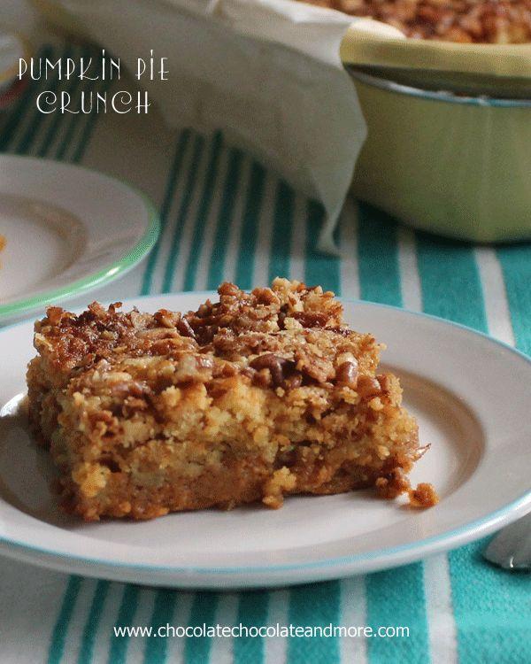Pumpkin Pie Crunch Recipe Desserts Dessert Recipes