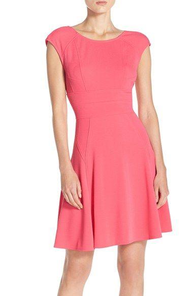 Julia Jordan Cap Sleeve Fit & Flare Dress available at #Nordstrom