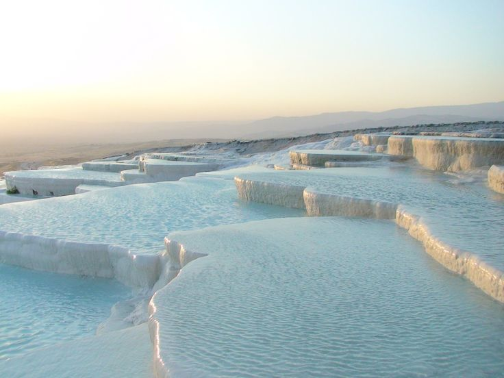 Pamukkale, Turkey If you prefer natural beauty above anything else when planning a Romantic break, then Pamukkale in Turkey is definitely the destination for you. This stunning natural wonder is a natural spring that has deposited natural minerals over many years forming travertine, a limestone, which has the appearance of ice. It's the perfect way to relax and unwind with your other half.  #travel #valentines #blog
