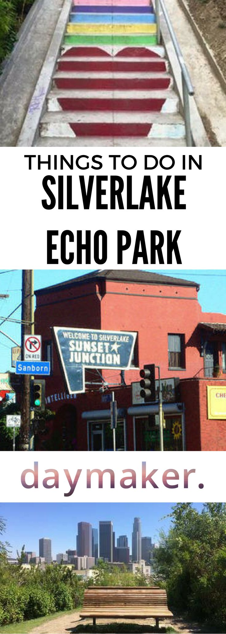 We love this neighborhood for the great live music events, fresh ground coffee, and vibrant arts scene. There are so many things to do in Silverlake and Echo Park, including exploring the Sunset Junction, climbing the Micheltorena Stairs, and visiting Hermosa Natural Park!