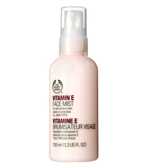 Vitamin E Face Mist, The Body Shop   The best for setting your makeup or feeling refreshed.