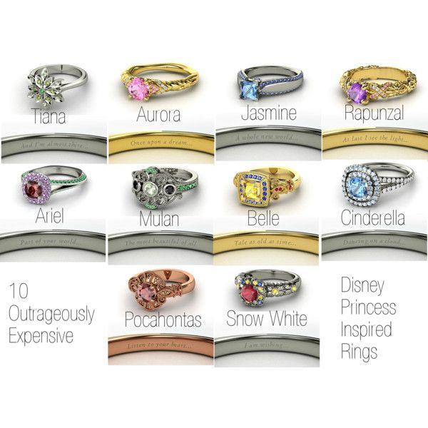Disney princess inspired rings