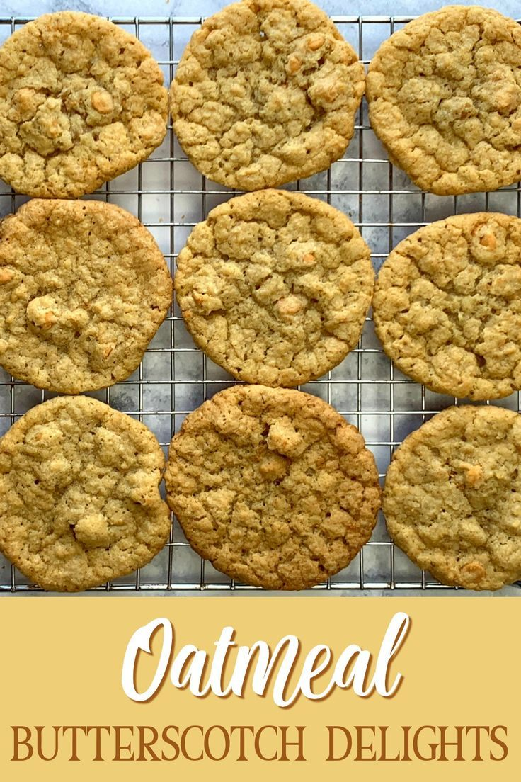 Oatmeal Butterscotch Delight Cookies In 2020 Butterscotch Cookies Recipes Sour Cream Cookies Recipes