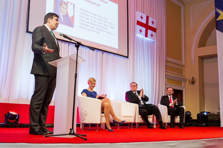 "Mikheil Saakashvili receives 2014 ""Knight of Freedom"" award"