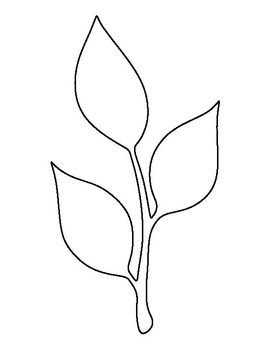 Stem and leaf pattern. Use the printable outline for crafts, creating stencils, scrapbooking ...