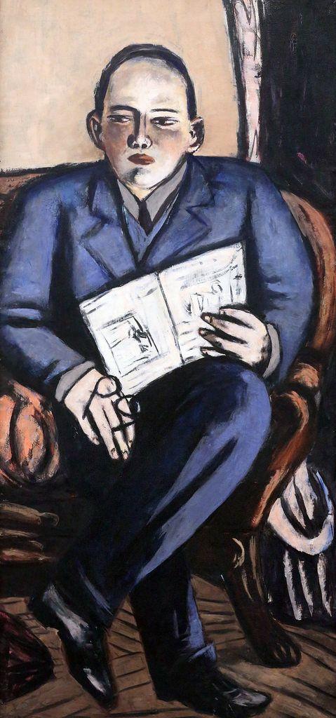 Max Beckmann. 1884-1950. Portrait de Erhard Göpel (Art historian). Bremen Kunsthalle.