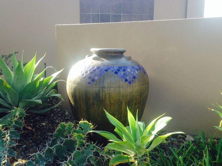 Desert Pots Manufacturing Gauteng decorative cement garden pot at Karoo Square in Pretoria
