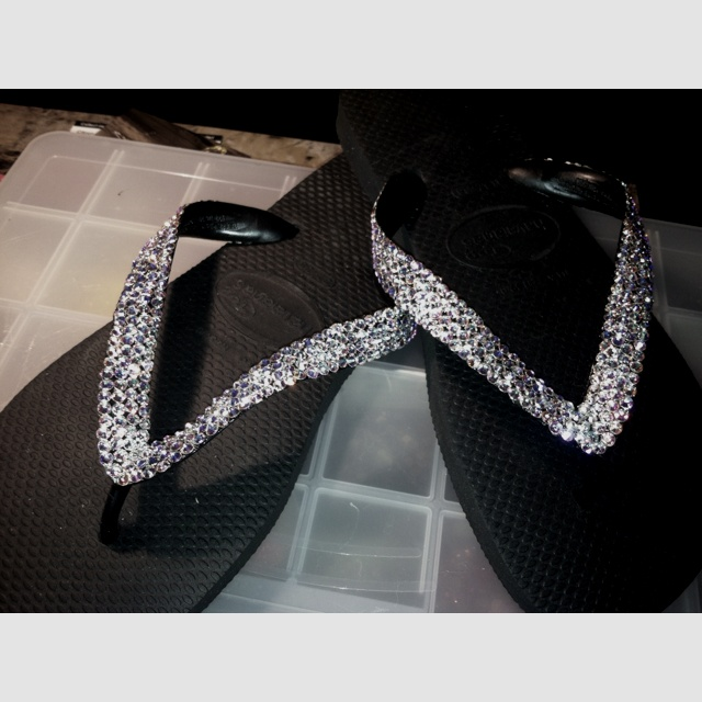 9cf20e4d26bb73 Havaianas with Swarovski crystals!