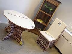 Resultado de imagen para materiales de reciclaje para muebles